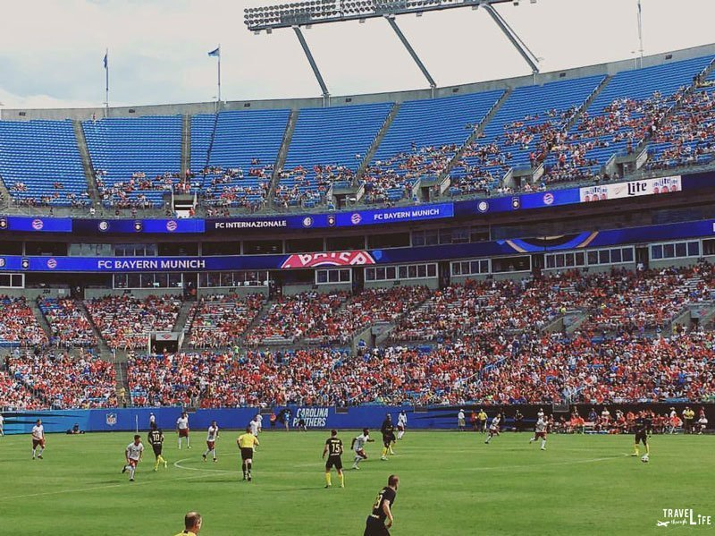 Charlotte North Carolina Carolina Panthers Stadium Soccer Friendly
