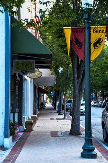 Downtown New Bern NC Sidewalk Image