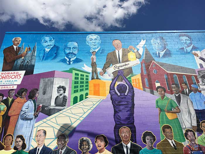 Durham NC Civil Rights Movement Mural Image
