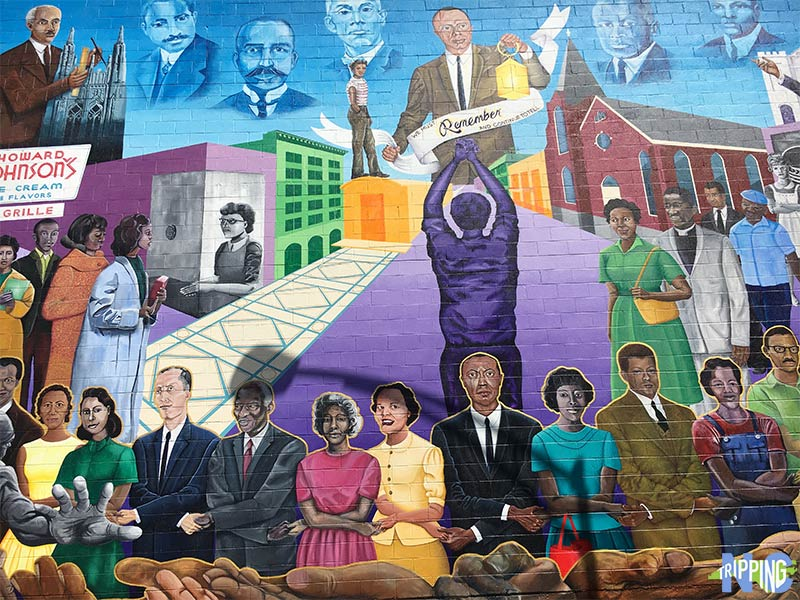 Things to do in Durham NC Morris Street Civil Rights Mural