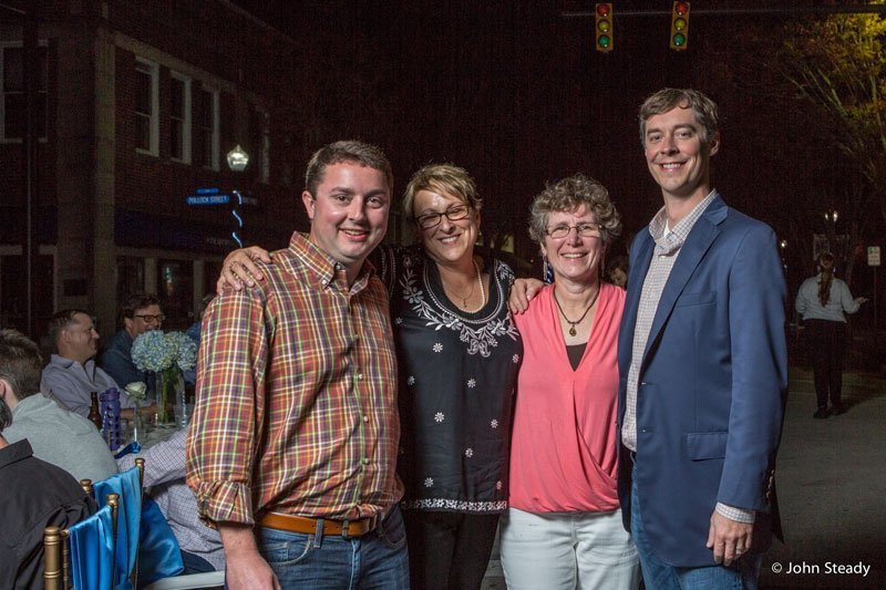 Gary Curry Cindy Burrows Beth Cooper and Charles Cushman at MERCI on Middle in New Bern NC
