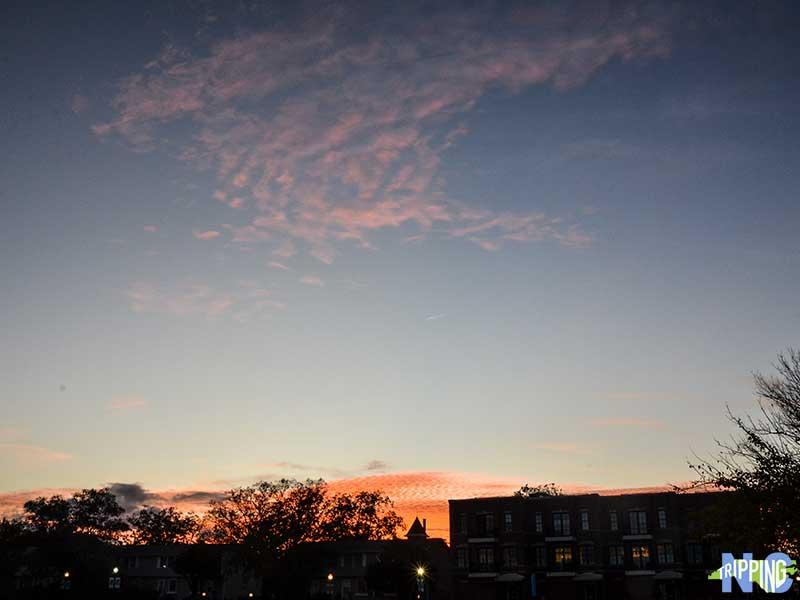 New Bern North Carolina Night Sky MERCI on Middle
