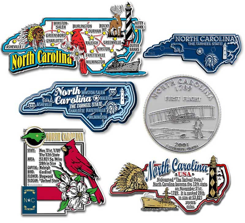 North Carolina Fridge Magnet Set