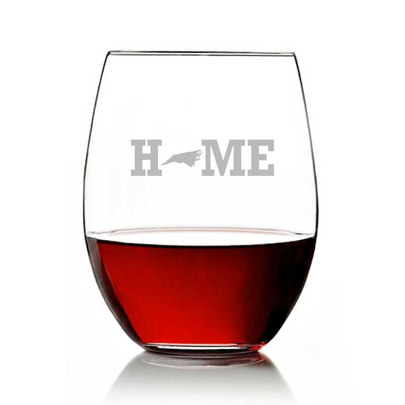 North Carolina Wine Glass