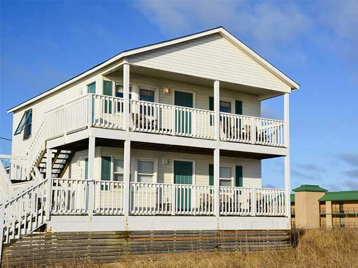 Best Place to Stay in Outer Banks NC Wright Cottage Court Front Image