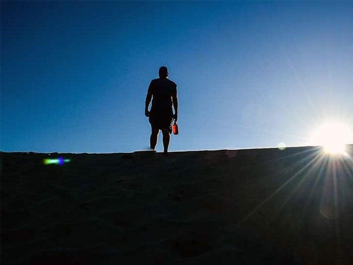 NC State Parks Jockeys Ridge Standing on Sand Dune