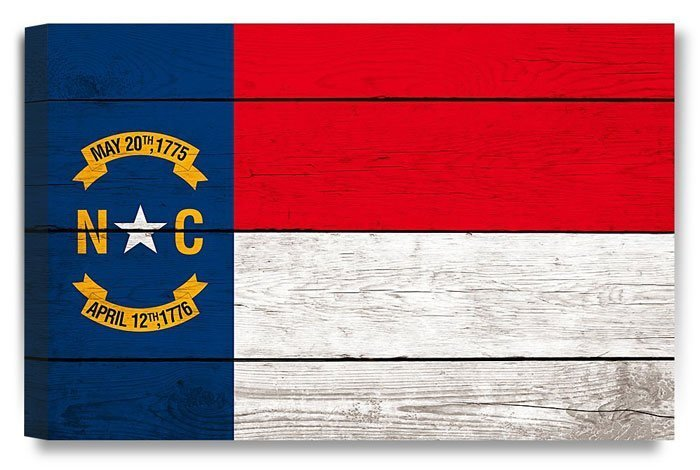 North Carolina Canvas Flag