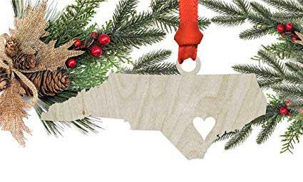 North Carolina Gifts State Shaped Ornaments