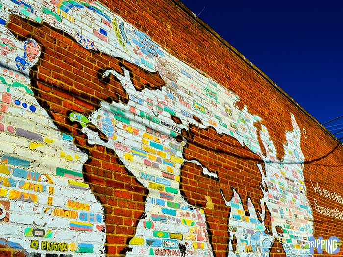 Small Towns in the Research Triangle Carrboro NC Street Mural Image