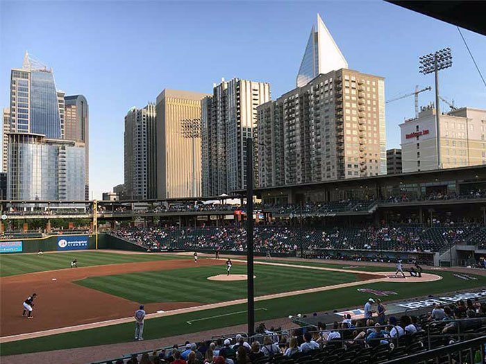 Charlotte NC Attractions Charlotte Knights BB&T Ballpark