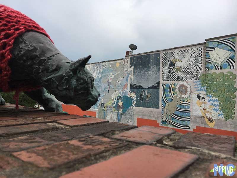Downtown Asheville Cat Walk Wall Street