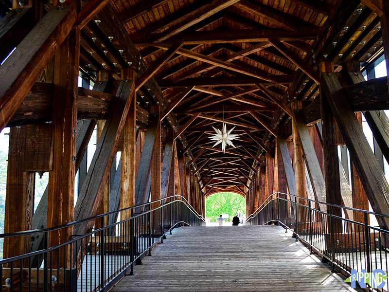 Winston Salem North Carolina Old Salem Heritage Bridge