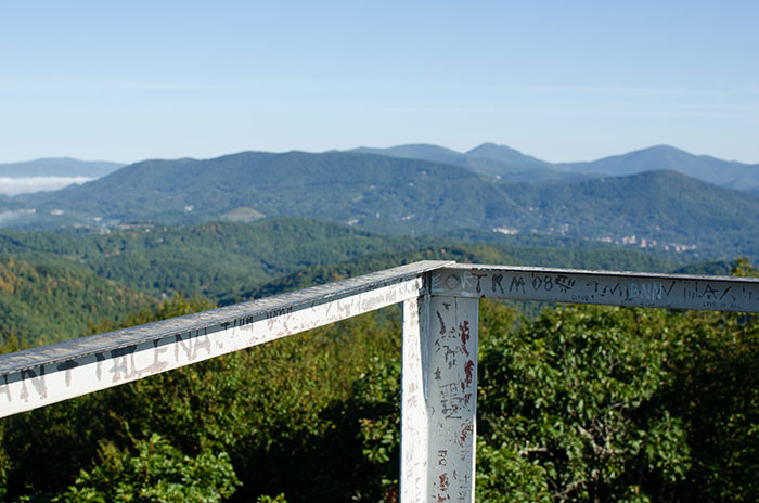 Best Hikes in NC Flat Top Tower Blowing Rock Image
