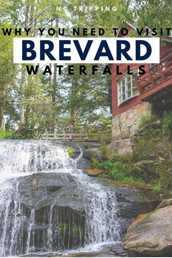Brevard NC Waterfalls Travel Guide Pinterest Image