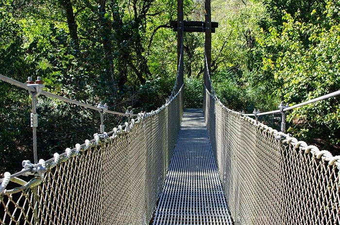 First Broad River Trail Suspension Bridge Shelby NC Image
