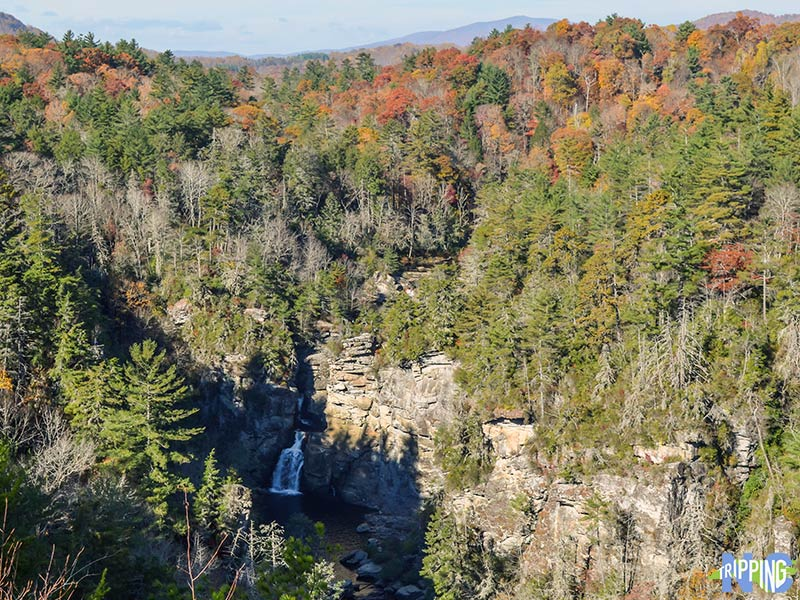 Places to go hiking in North Carolina Linville Falls