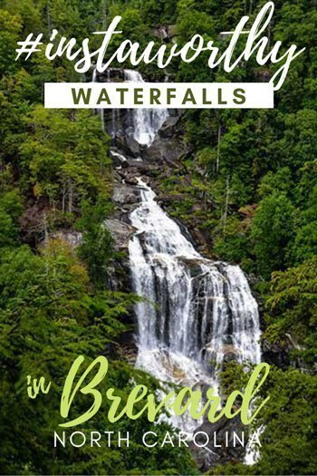 Waterfalls near Brevard NC Travel Guide Pinterest Image