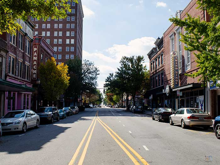 Things to Do in Greensboro NC Downtown Elm Street Image