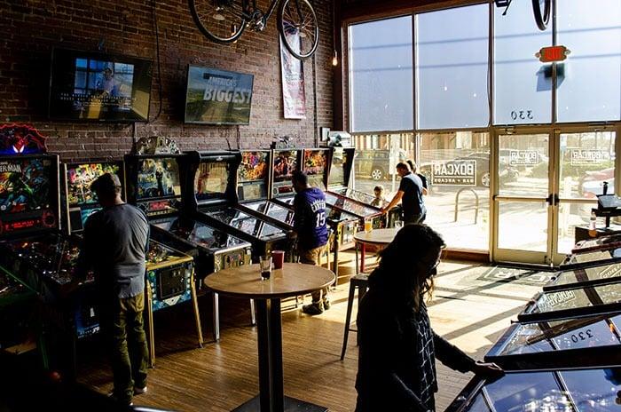 Boxcar Raleigh Pinball Area
