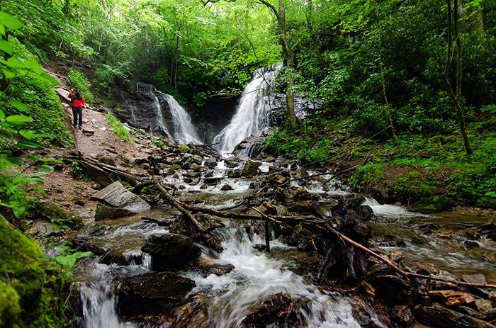 Soco Falls near Cherokee NC