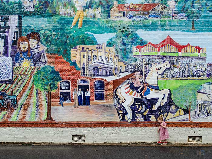 North Carolina Tourism Uptown Shelby NC Mural Image