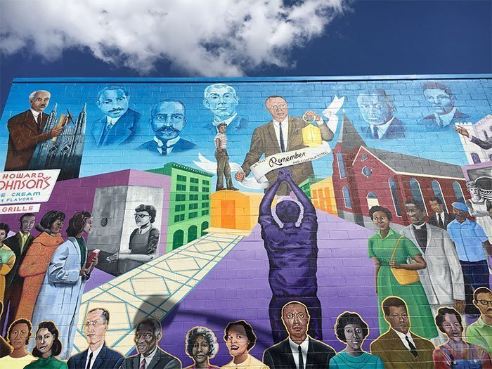 Free Things to Do in Durham NC Morris St Mural Image