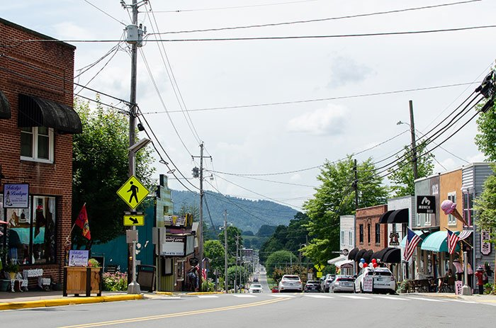 NC Small Towns Burnsville Downtown