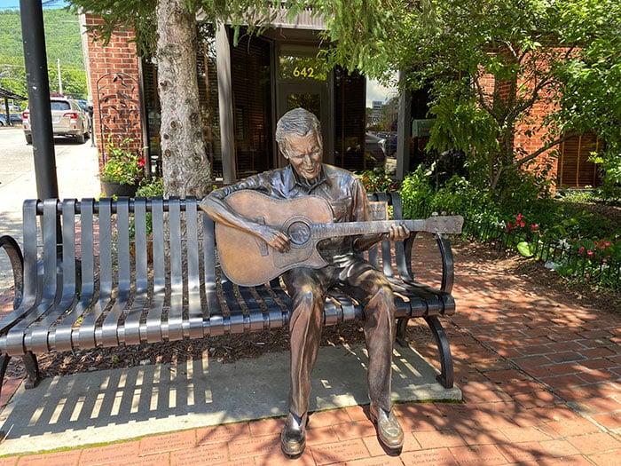 Small Towns in North Carolina Boone Doc Watson Statue