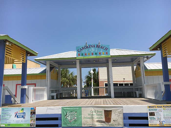 Things to Do in North Carolina in July Carolina Beach NC Boardwalk Image