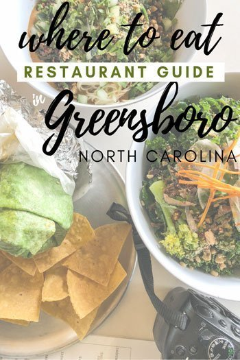 Greensboro NC Restaurants Travel Guide Pinterest Image