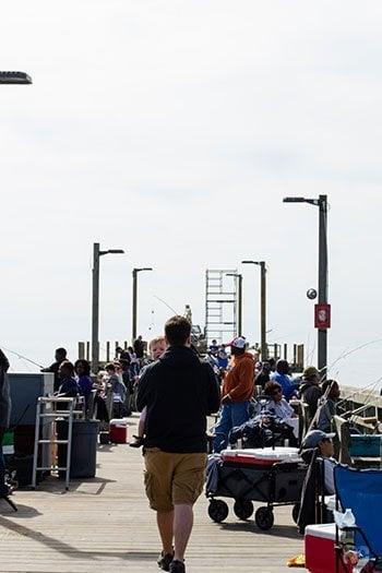 Topsail Island NC Surf City Ocean Pier Image
