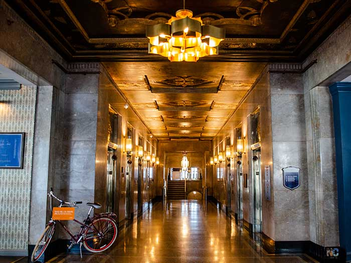Things to Do in Winston-Salem NC The Reynolds Building Lobby Image