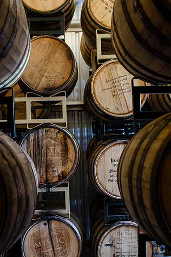 Local Distilleries in North Carolina Mystic Farm and Distillery Durham NC Image