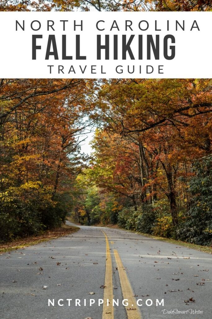 North Carolina Fall Hiking Guide Pinterest Image