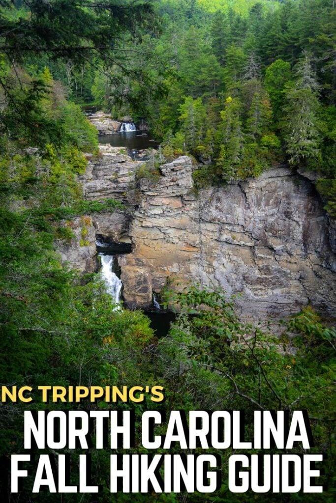 North Carolina Fall Hiking Guide Pinterest Image