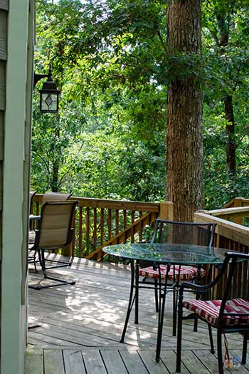 Asheville Vacation Rentals Blackberry Lodge in Fairview Outside Deck Image