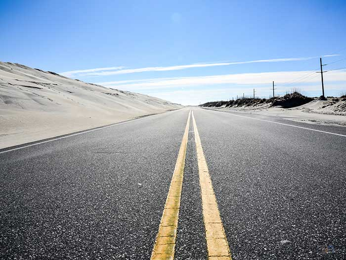 Things to Do in North Carolina in November Outer Banks Marathon Road Image