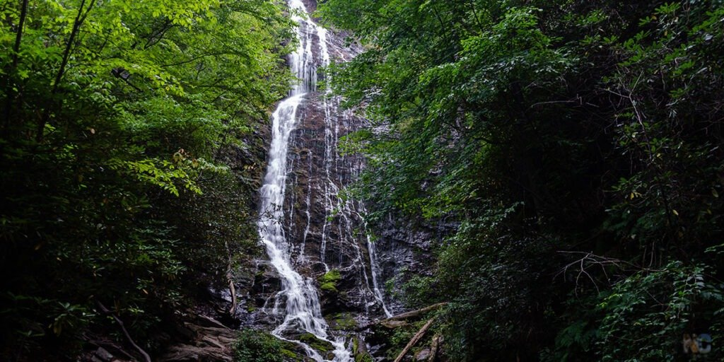 Mingo Falls in Cherokee NC Waterfall Hikes Travel Guide Featured Image