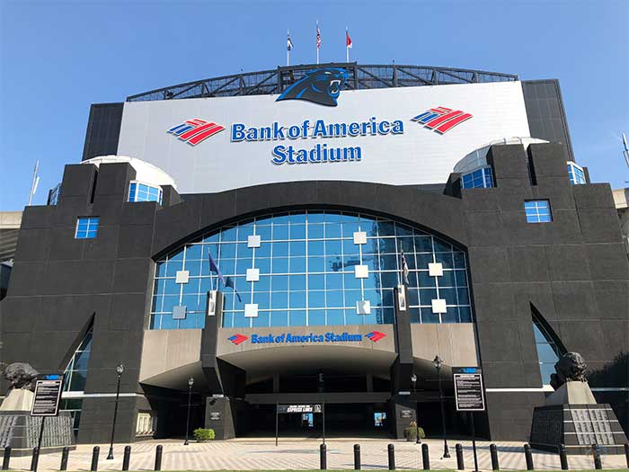 Things to Do in Charlotte NC in December Bank of America Stadium Image