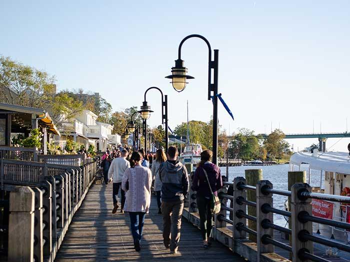 Wilmington NC Attractions Riverwalk Images
