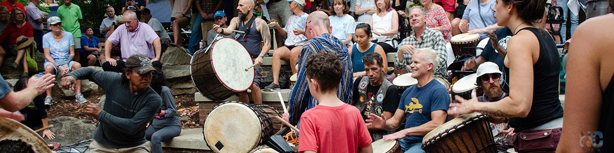 Asheville NC Drum Circle Image