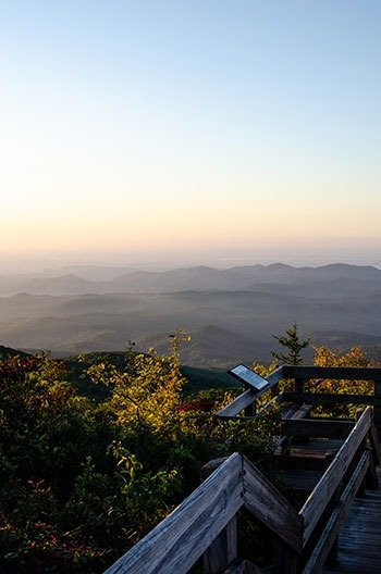 Places to Hike near Boone NC Rough Ridge Trail Overlook Image