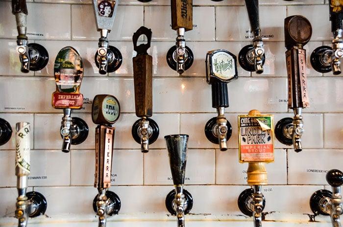 Raleigh Beer Garden NC Taps Image
