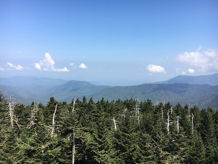 Blue Ridge Mountains view from Clingmans Dome Image