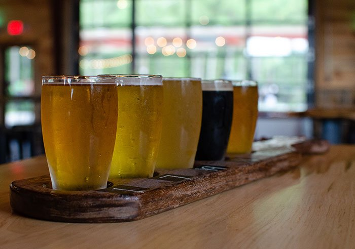 Dirtbag Ales Brewery and Taproom Hope Mills near Fayetteville NC Flight Image