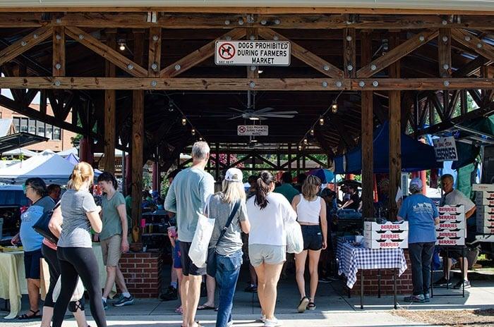 Carrboro Farmers Market near Chapel Hill NC Image