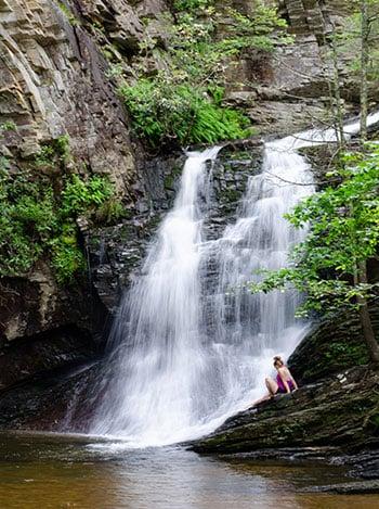 NC Waterfalls Hanging Rock State Park Image
