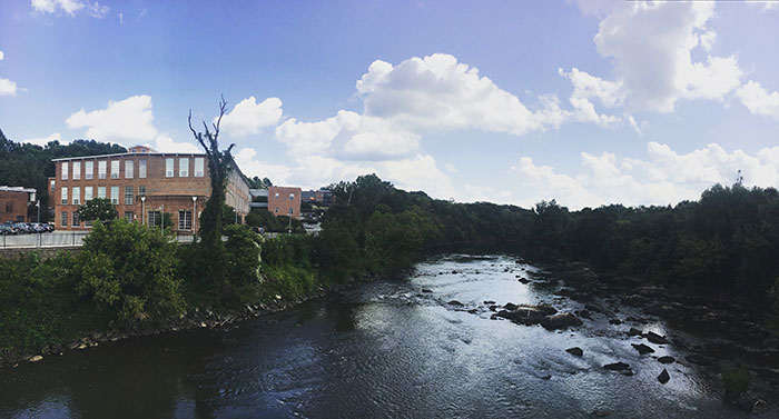Saxapahaw NC Haw River image