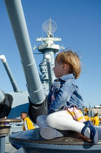 Battleship in Wilmington NC Outside Image