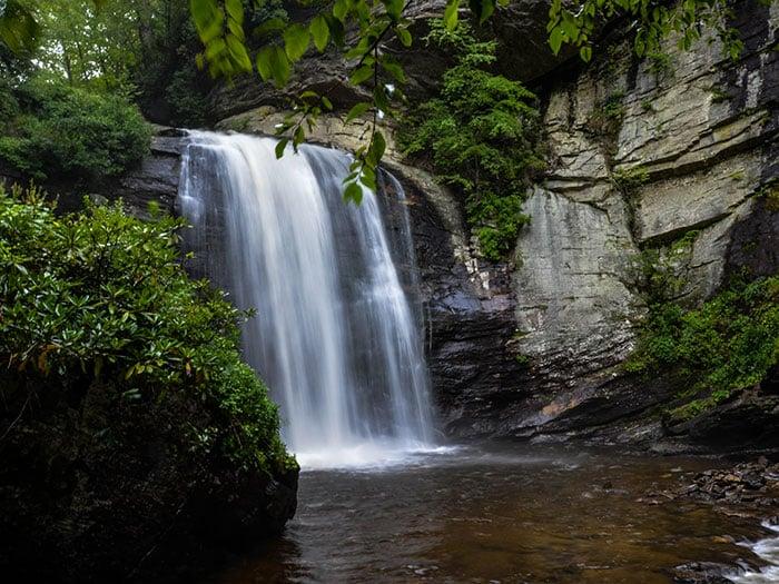 Road Trip North Carolina Looking Glass Falls Image